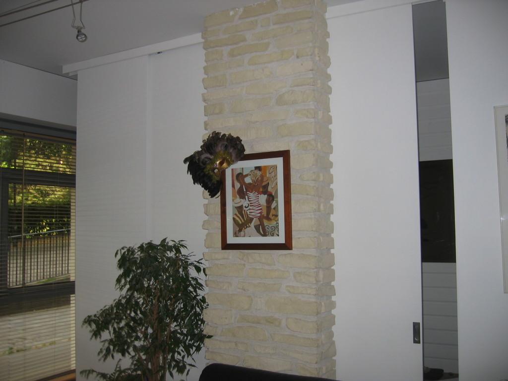 Installation porte en Médium peint